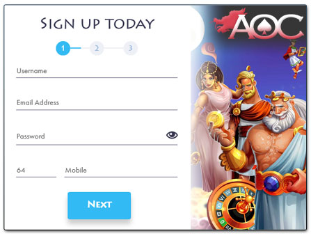 Casino Gods registration