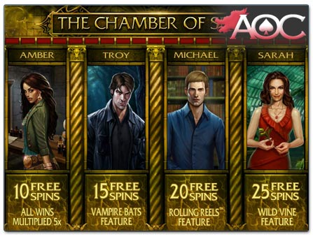 Microgaming Immortal Romance free spins