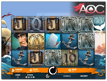 Microgaming Moby Dick online slot