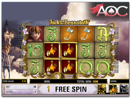 NetEnt Jack and the Beanstalk free spins