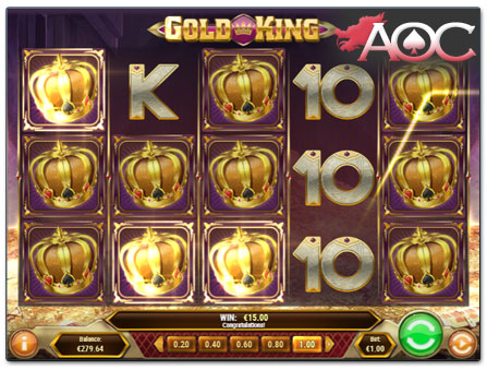 Play'n GO Gold King slot win