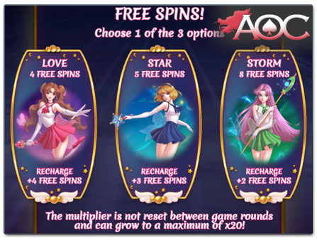Play'n GO Moon Princess free spins